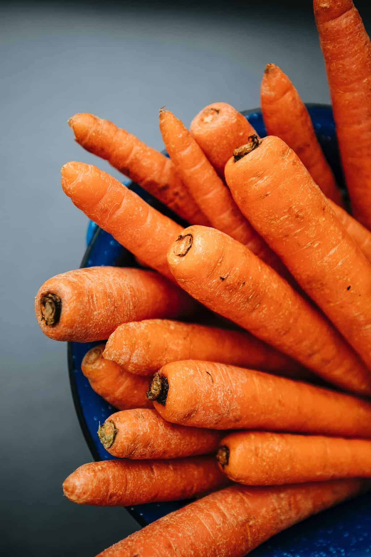 A bunch of carrots.