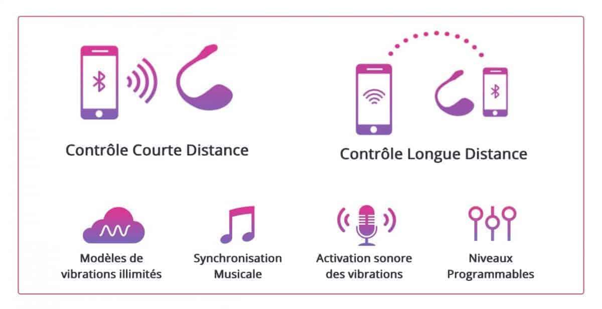 Les options et la connectivité du mini-vibromasseur Lush 2 permettent de varier les plaisirs et les contextes de jeux coquins