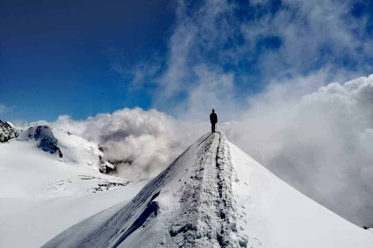 Titelbild Angst beim Bergsteigen - Die Angst beim Bergsteigen