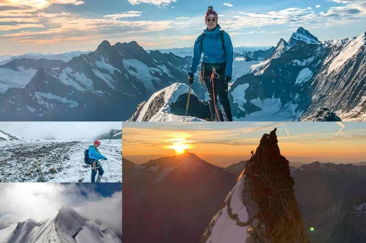 Mehrere Bergbilder aus 2020 und Ausblick für 2021