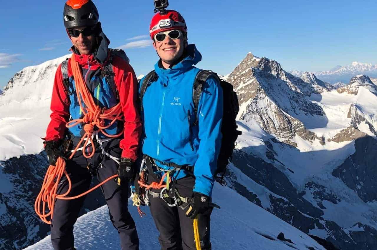 Tourenhose im Einsatz - Bergsteigen auf dem Eiger im Berner Oberland