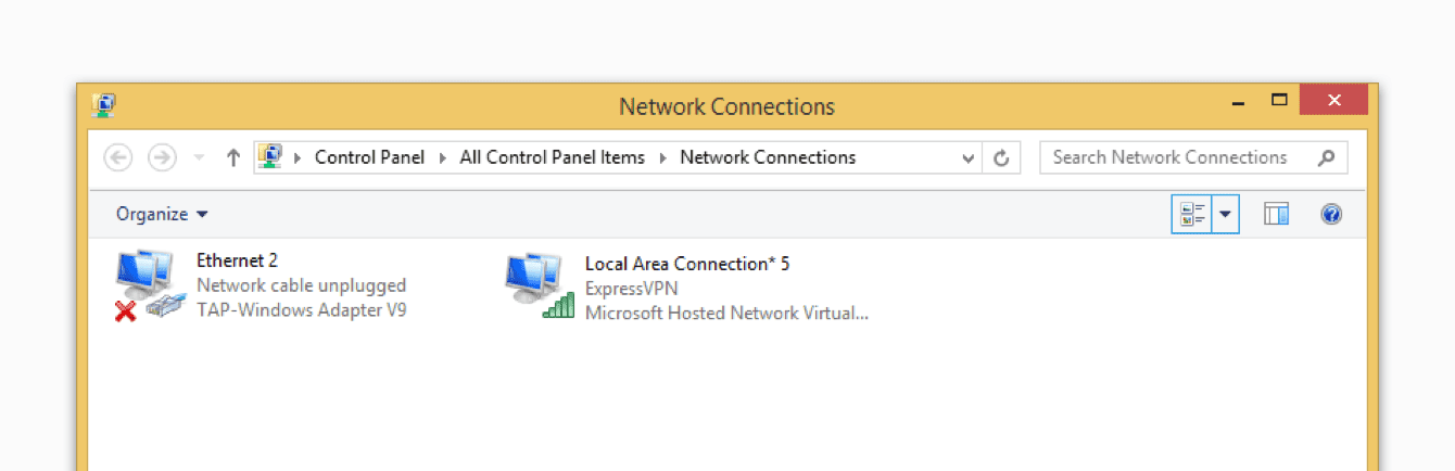 Note the name of the connection.