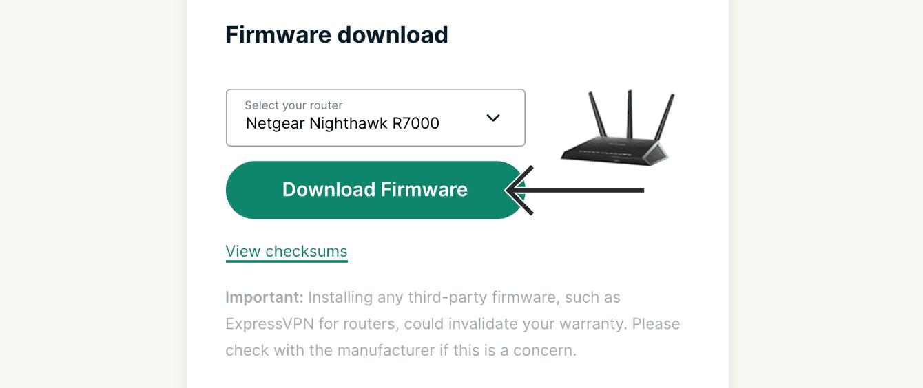 "Click ""Download firmware."""