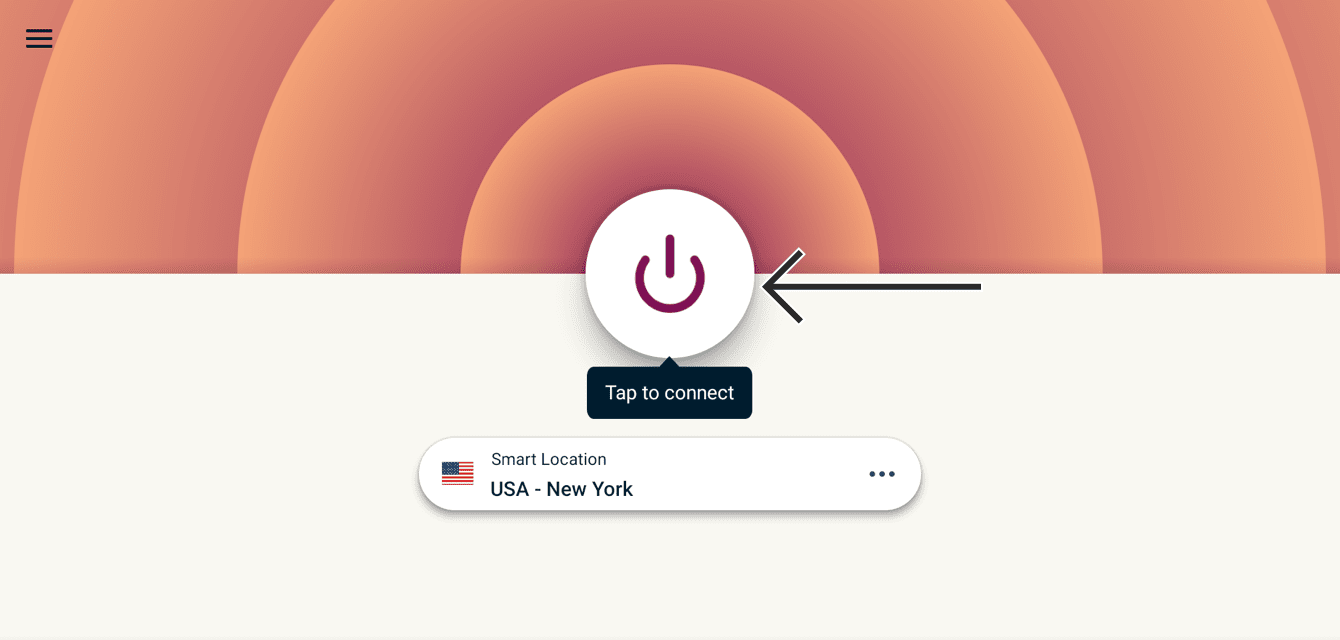 To connect, select the On Button.
