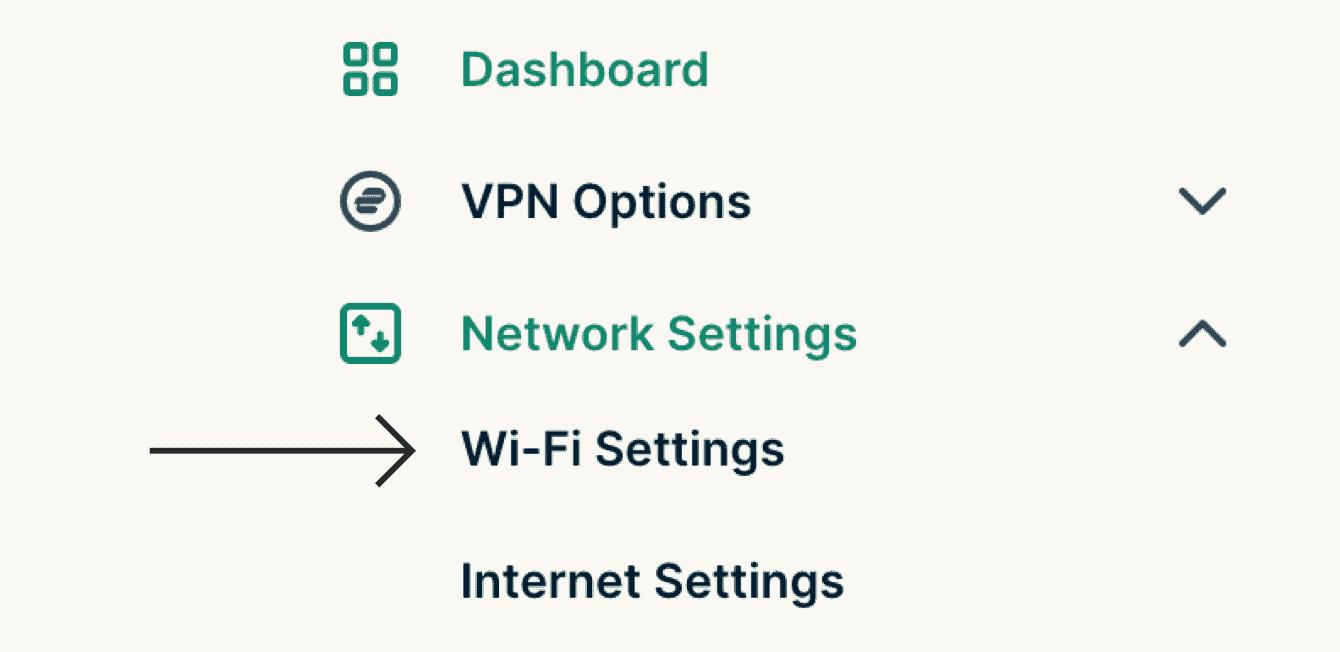 "Select ""Wi-Fi Settings."""