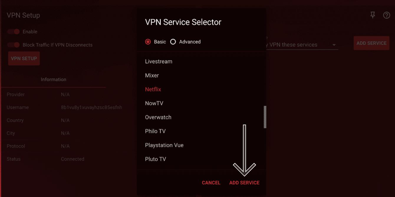 """Click """"Add Service."""""""