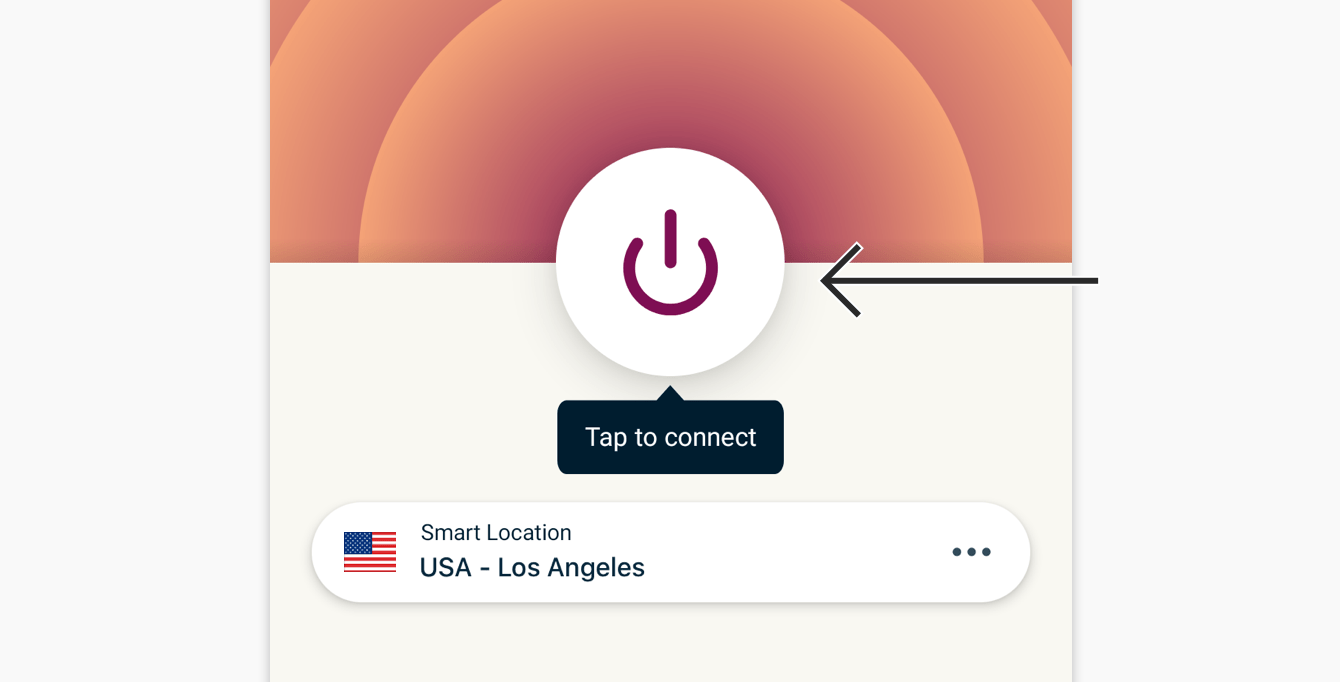 To connect, click the On Button.