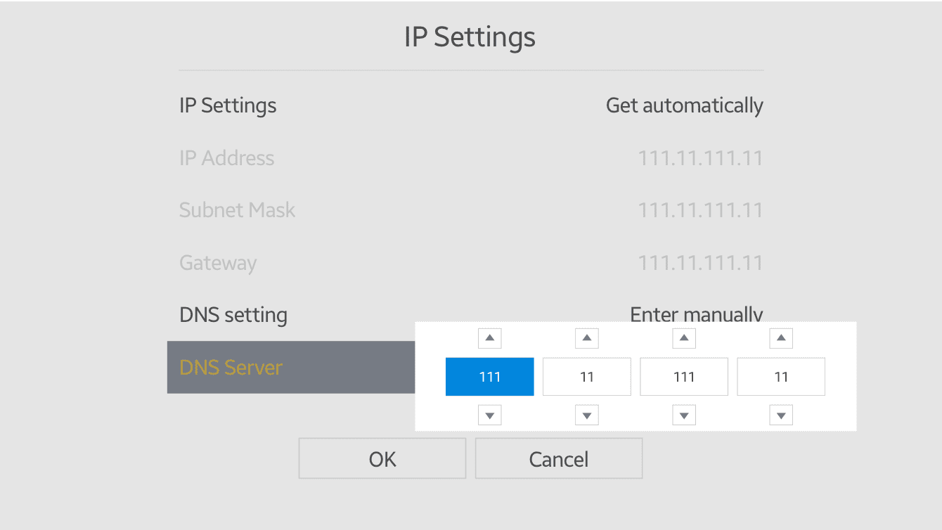 Enter the MediaStreamer IP addresses you found earlier.