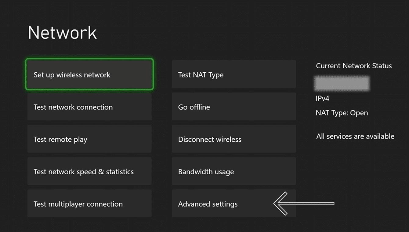 """Select """"Advanced settings."""""""