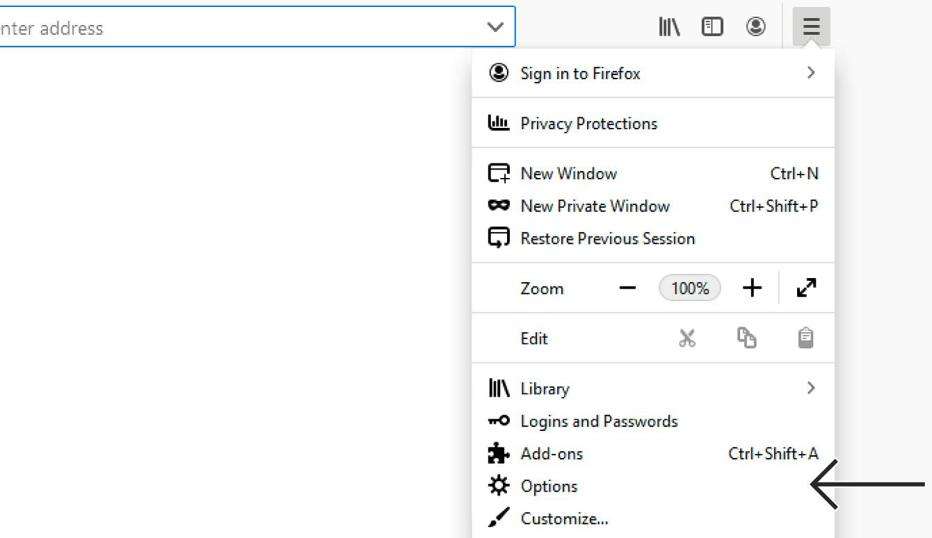 """Click """"Options."""""""