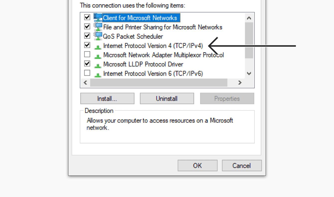 "Double-click ""Internet Protocol Version 4."""