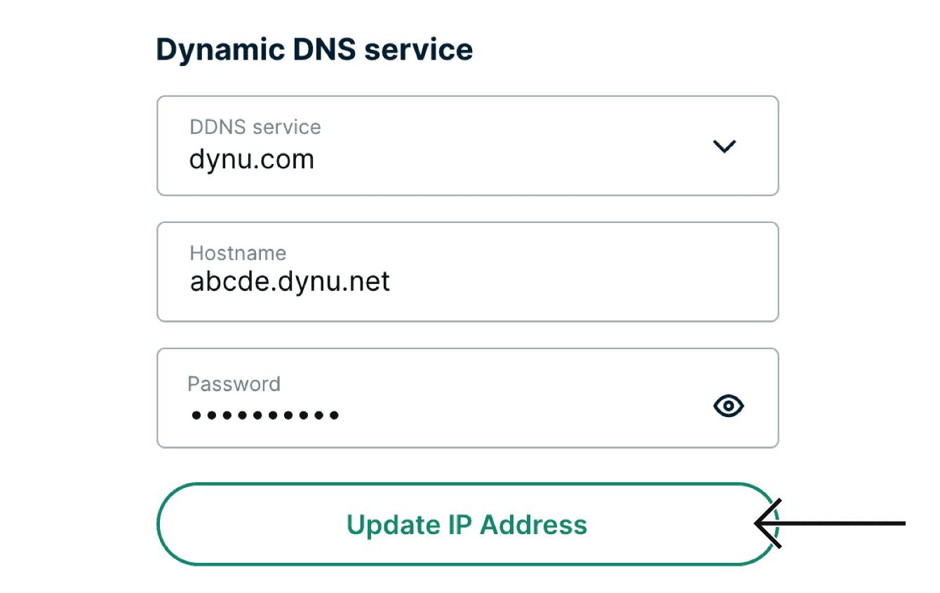 "Select ""Update IP Address."""