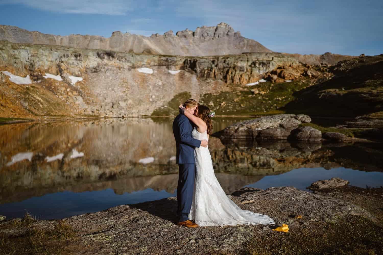 Couple Vow Exchange Ouray Colorado Elopement