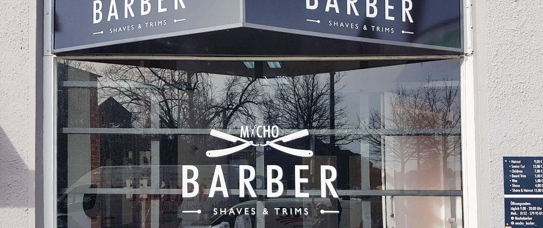 Plottfolie Schaufenster Friseur Reklame Bremen
