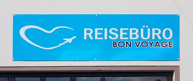 Schild für Außenwerbung Reisebüro Reklame Bremen