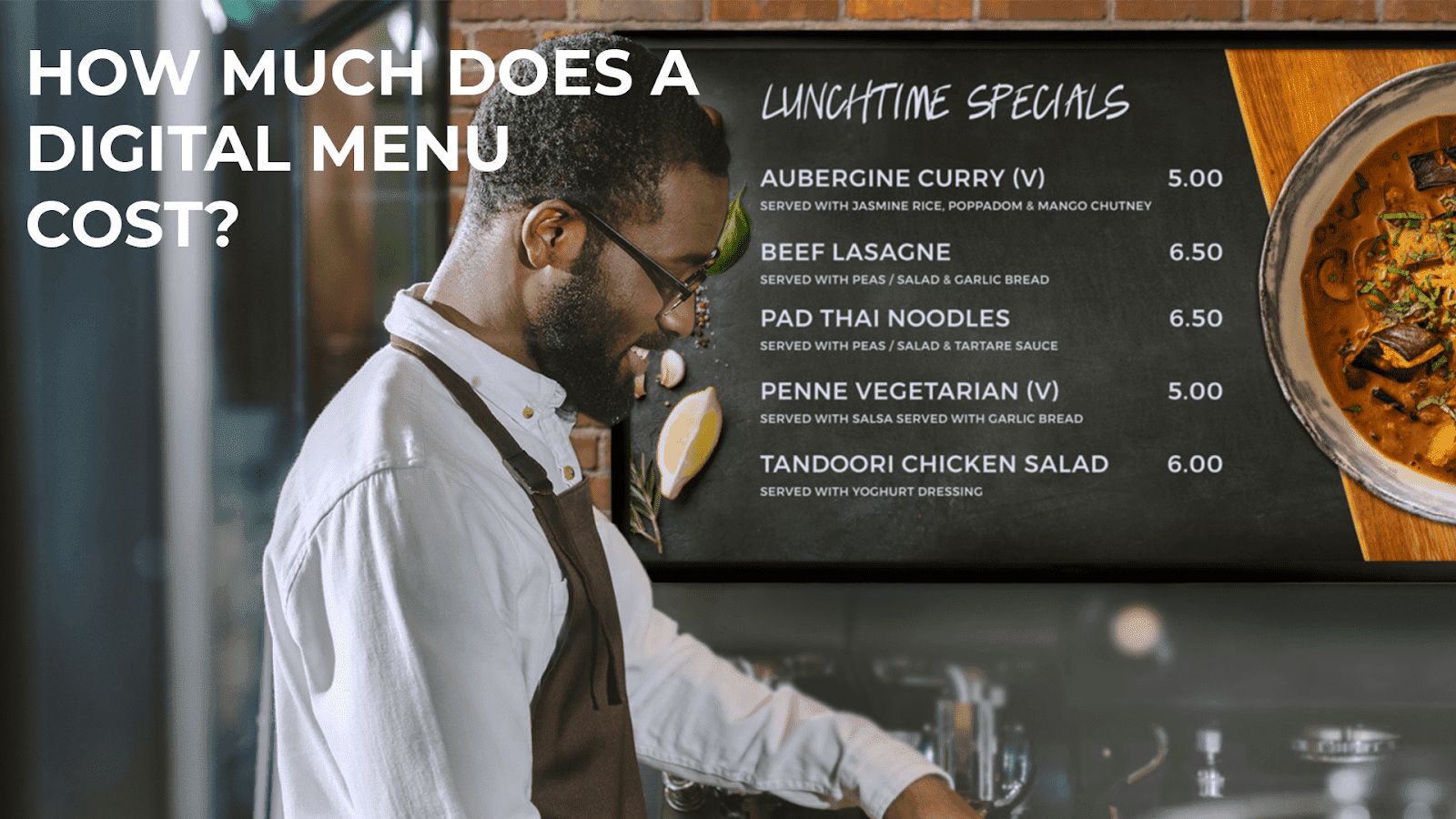 How much does digital menu cost