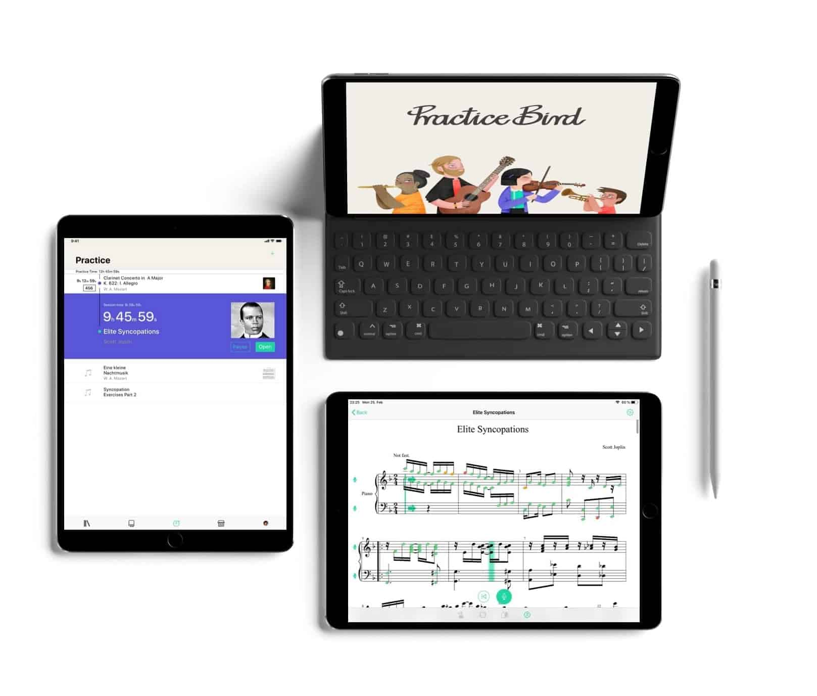Practice Bird on 3 iPads mini