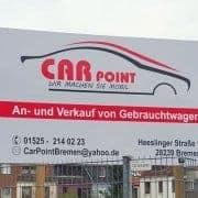 Car Point Reklame Schild Digitaldruck Reklame Bremen