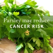 Parsley reduces cancer risk