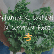 Vitamin K content in common foods