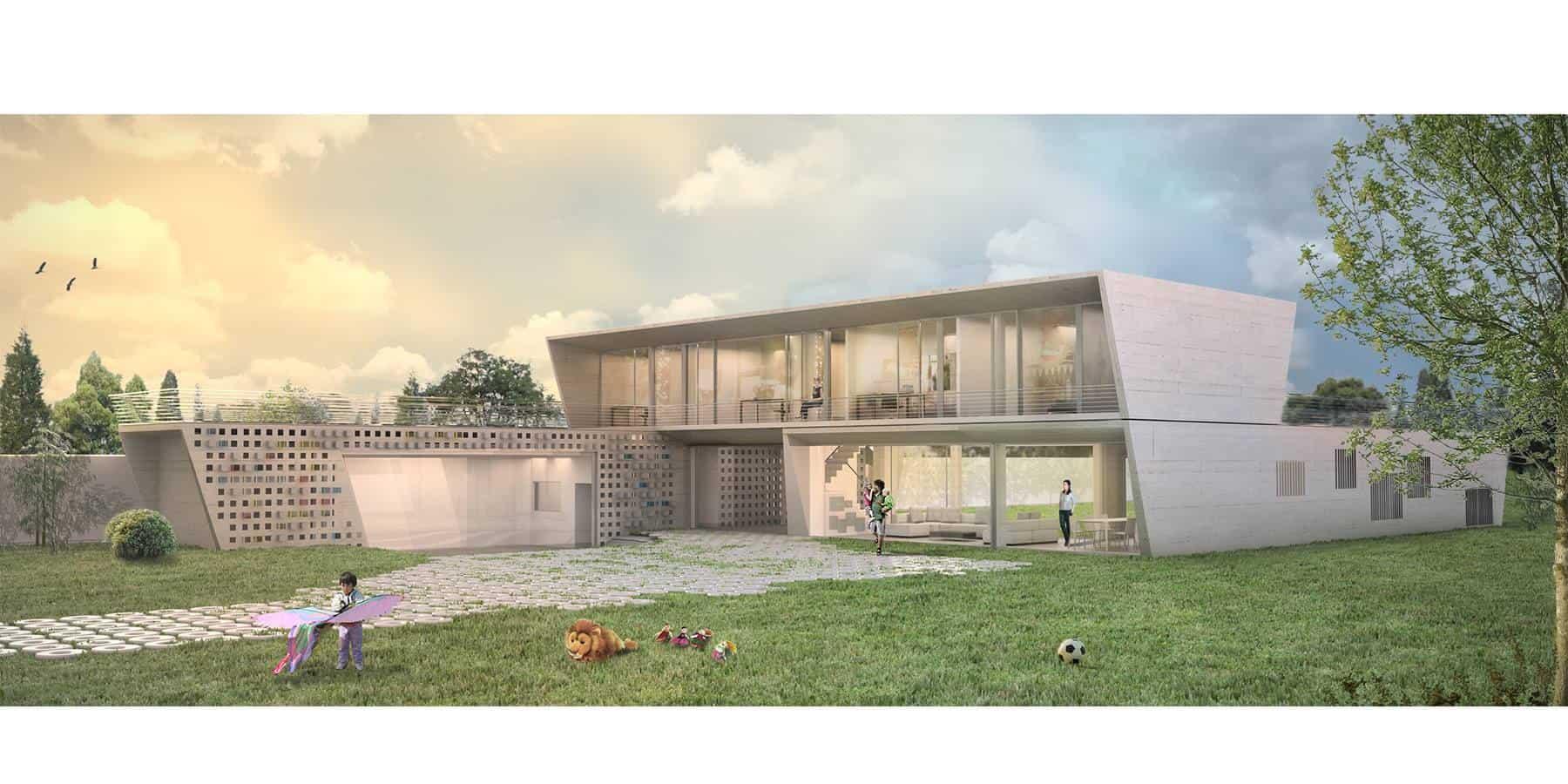 IMO Architecture 好事成雙三合院
