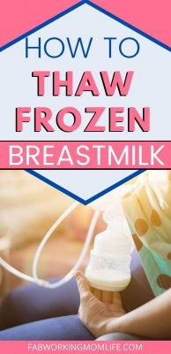 how to thaw frozen breastmilk