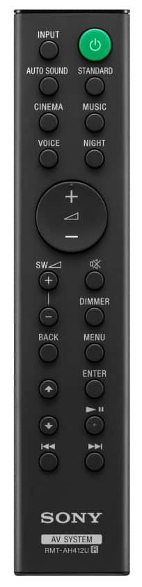 Mando a distancia barra de sonido HT-S20R de Sony