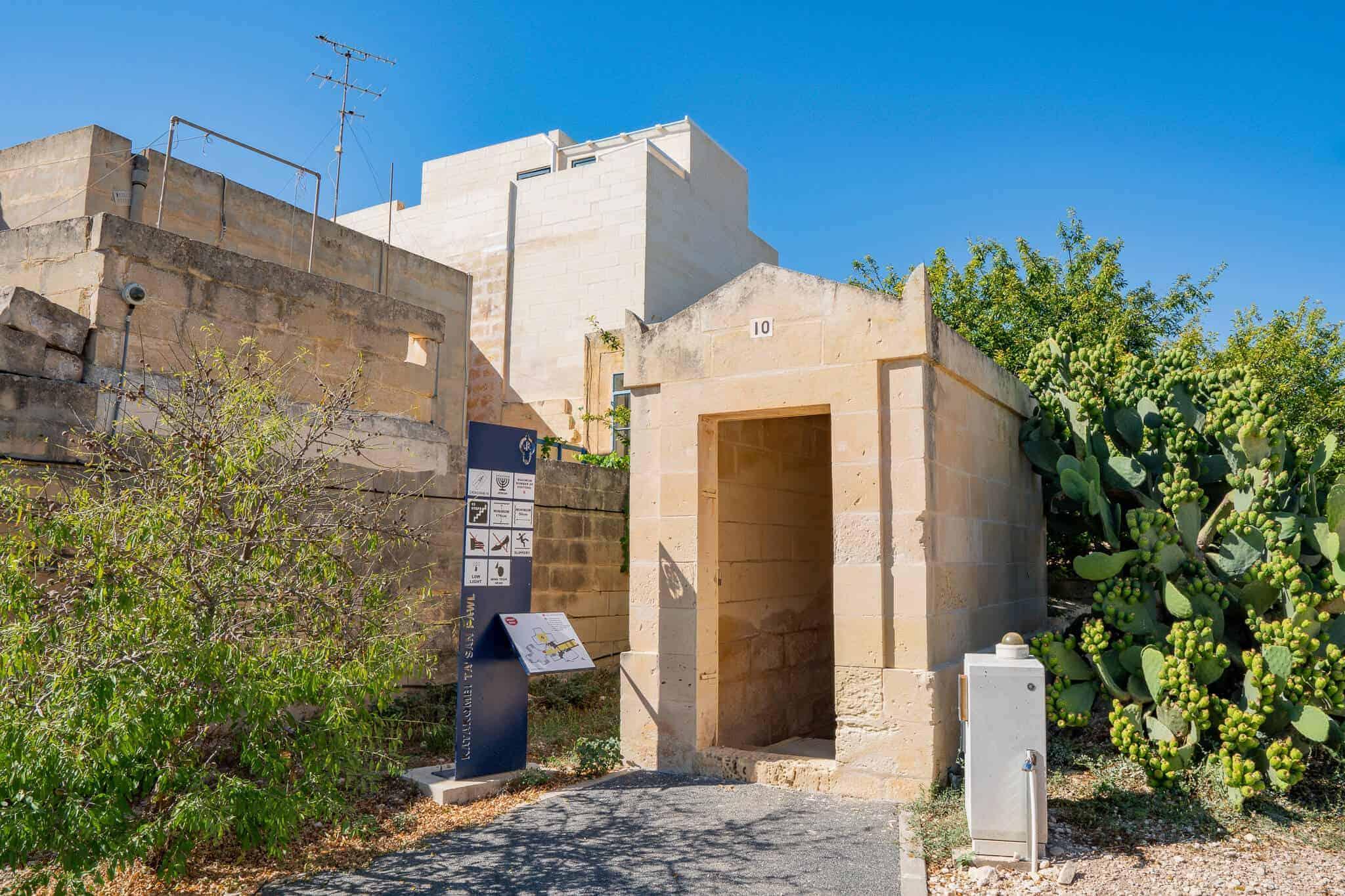 Eingang Katakomben Rabat Malta