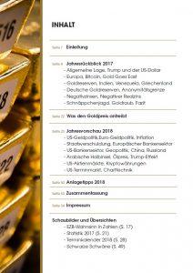 Goldjahrbuch 2018 Inhalt