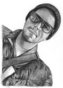 Pencil Sketch of Man