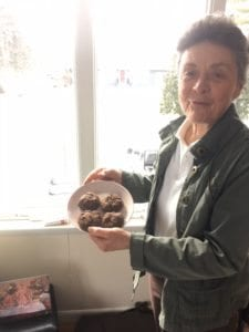 Dr. Bown with molasses cookies