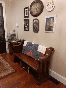 what to do with an antique church pew