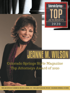 Colorado Springs Style Magazine Top Attorney Award for 2020