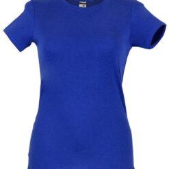 Tshirt senhora ankara azul frente
