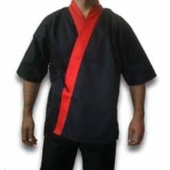 Kimono preto e vermelho