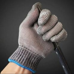 Luva malha de aço anti-corte