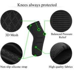 Elastic knees pad protection