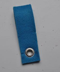 Vilten sleutelhanger aquablauw