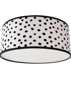 plafondlamp dots black / whites