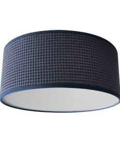 Plafondlamp Wafelstof donker oud blauw