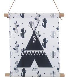 Textielposter Tipi