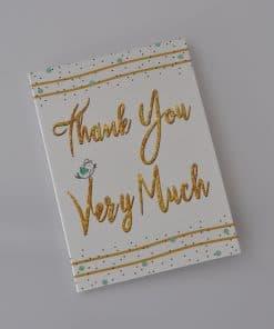 Thank you very much cadeau kaartje