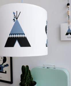 Lamp Indiaan Tipi en Aap jeans blauw