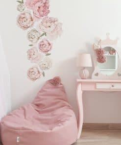 Velvet zitzak poof pink