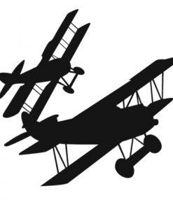 Muurstickers vliegtuig