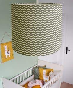 Lamp basic Zigzag olijf groen_ANNIdesign