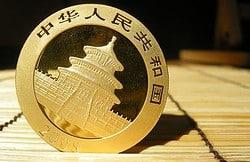 China Panda Goldmünze