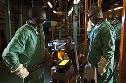Gold, Südafrika, Förderung, Produktion