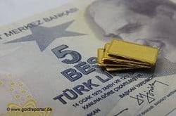 Gold, Türkei. Goldreserven (Foto: Goldreporter)