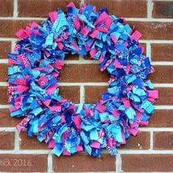 DIY Bandana Wreath Tutorial
